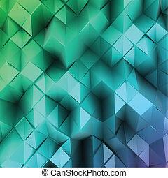 γαλάζιο τριγωνικό σήμαντρο , abstract., μικροβιοφορέας