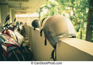 γαλέα , μοτοσυκλέτα , builder., τοίχοs , concept., ασφάλεια , μοτοσικλέτα