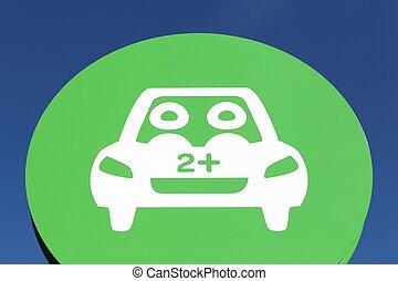 γαλλία , carpool , σημείο , πίνακας υπογραφών