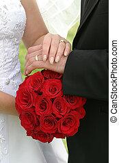 γαμήλια τελετή ανθοδέσμη