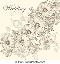 γαμήλια τελετή πρόσκληση , κάρτα , για , σχεδιάζω