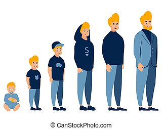 γελοιογραφία , ανάπτυξη , απόσταση μεταξύ δύο σταθμών , minimalist , businessman., ρυθμός , διαμέρισμα , men., μωρό