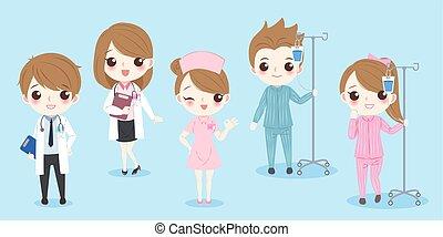 γελοιογραφία , ασθενής , γιατρός