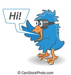 γελοιογραφία , γαλάζιο πουλί