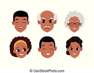 γελοιογραφία , ενήλικος αντικρύζω , άνθρωποι , γριά , εικόνα , θέτω