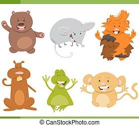 γελοιογραφία , ζώο , γράμμα , θέτω