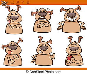 γελοιογραφία , θέτω , σκύλοs , εικόνα , ισχυρό αίσθημα