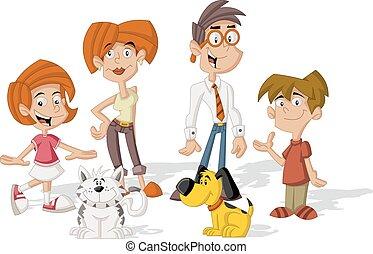 γελοιογραφία , οικογένεια