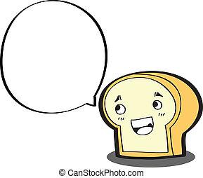 γελοιογραφία , bread