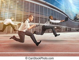γεμάτος , επιχείρηση , εργαζόμενος , ίχνη, άντρεs , αγώνας , ταχύτητα