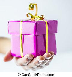 γενέθλια , ή , χριστουγεννιάτικο δώρο , κουτί