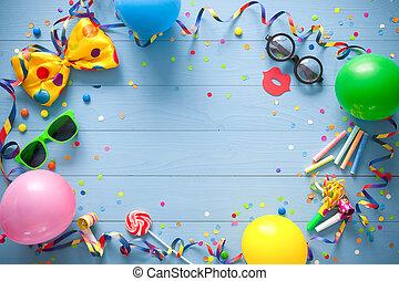 γενέθλια, γραφικός, φόντο, καρναβάλι, ή