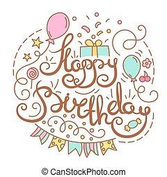 γενέθλια, εδάφιο, ευτυχισμένος