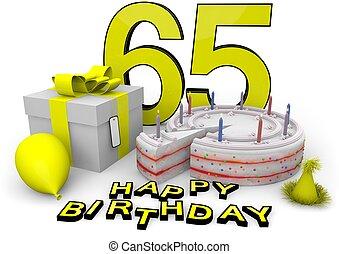 γενέθλια , κίτρινο , ευτυχισμένος