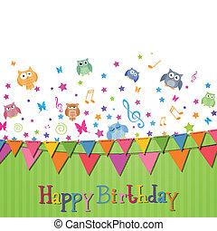 γενέθλια , μικροβιοφορέας , κάρτα , ευτυχισμένος