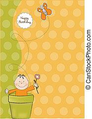 γενέθλια, χαιρετισμός, κάρτα, ευτυχισμένος