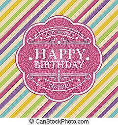 γενέθλια, χαιρετισμός, κάρτα