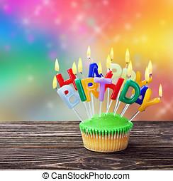 γενέθλια,  Cupcakes, γραφικός, ευτυχισμένος
