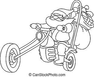 γενικές γραμμές , μοτοσικλέτα , santa
