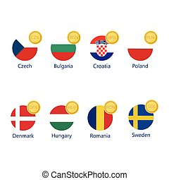 γενική αποδοχή σύμβολο , και , σημαίες