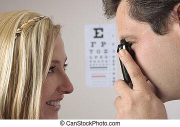 γενική εξέταση υγείας , μάτι
