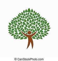 γενική ιδέα , άνθρωποι , σύμβολο , δέντρο , περιβάλλον , πράσινο