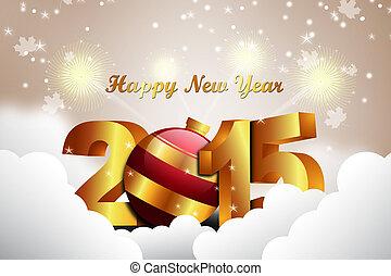 γενική ιδέα , έτος , 2015, καινούργιος , εορτασμόs , ευτυχισμένος