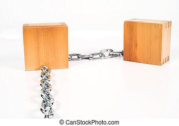 γενική ιδέα , αλυσίδα , ξύλο , blockchain., ασφάλεια , τεχνολογία , εμποδίζω