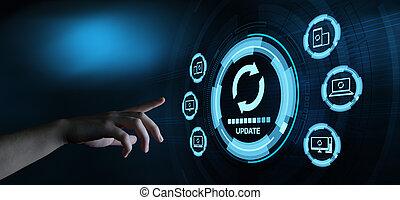 γενική ιδέα , αναβαθμίζω , ηλεκτρονικός υπολογιστής , εκσυγχρονίζω , πρόγραμμα , internet , λογισμικό