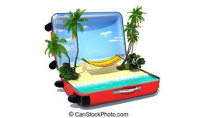 γενική ιδέα , ανοίγω , διακοπές , αποσκευές