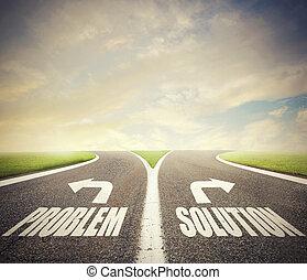 γενική ιδέα , απόφαση , διάλυμα , σταυροδρόμι , σωστό , way., πρόβλημα