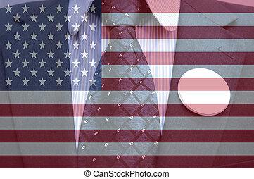 γενική ιδέα , από , αμερικανός , εκλογή