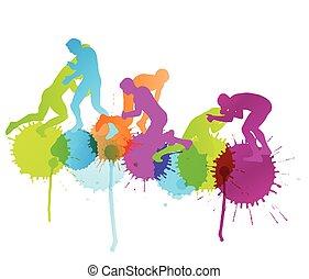 γενική ιδέα , αφαιρώ , άντρεs , πάλη , ρωμαϊκός , εικόνα , ελληνικά , απεικονίζω σε σιλουέτα , μικροβιοφορέας , φόντο , δραστήριος , αγώνισμα