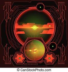 γενική ιδέα , αφαιρώ , εικόνα , φόντο. , μικροβιοφορέας , μέλλον , τεχνολογία
