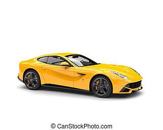 γενική ιδέα , αόρ. του shoot , αυτοκίνητο , μοντέρνος , - , κίτρινο , ζεστός , στούντιο