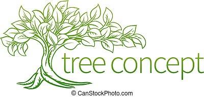 γενική ιδέα , δέντρο , εικόνα