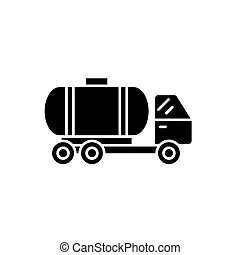 γενική ιδέα , δεξαμενή άμαξα αυτοκίνητο , απομονωμένος , εικόνα , σήμα , φόντο. , μικροβιοφορέας , μαύρο , εικόνα , σύμβολο