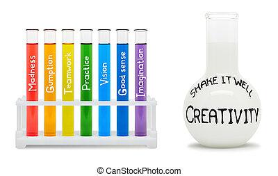 γενική ιδέα , δημιουργικότητα , έγχρωμος , flasks.
