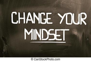 γενική ιδέα , δικό σου , αλλαγή , mindset