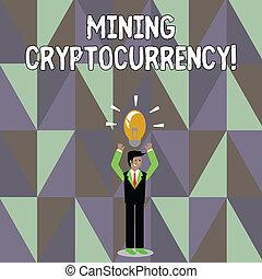 γενική ιδέα , εδάφιο , όπλα , χαρτονομίσματα , ακάθιστος , σύστημα , γράψιμο , ψηφιακός , αναμμένος , μετάλλευση , δικός του , εμπορική πράξη , head., βολβός , αίρω , εικόνα , αντιμετώπιση , λέξη , επιχειρηματίας , cryptocurrency., προs τα πάνω