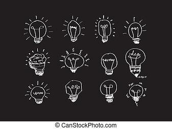 γενική ιδέα , ελαφρείς , illu, ιδέα , μικροβιοφορέας , βολβός