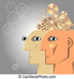 γενική ιδέα , ενδυμασία , είδηση , τεχνητό , brain., σχεδιάζω