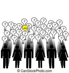 γενική ιδέα , επιτυχία , άνθρωποι , ιδέα , λώτ , έχει