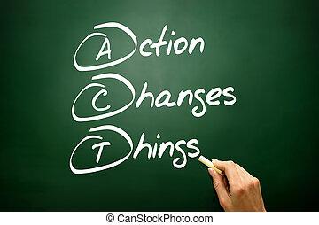 γενική ιδέα , επιχείρηση , ακρώνυμο , αδυναμία , (act), χέρι , δράση , μετοχή του draw , αλλαγή