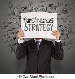 γενική ιδέα , επιχείρηση , δείχνω , χέρι , βιβλίο , επιχειρηματίας , στρατηγική