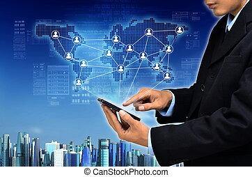 γενική ιδέα , επιχείρηση , internet
