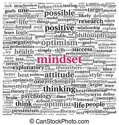 γενική ιδέα , ετικέτα , σύνεφο , mindset