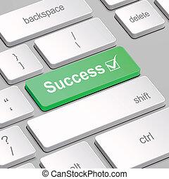 γενική ιδέα , ηλεκτρονικός υπολογιστής , επιτυχία , πληκτρολόγιο