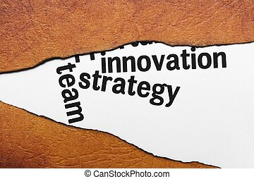γενική ιδέα , καινοτομία , στρατηγική