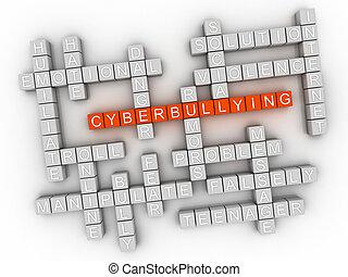 γενική ιδέα , λέξη , - , εικόνα , cyberbullying, σύνεφο , 3d